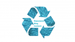 a blue recycling symbol marked